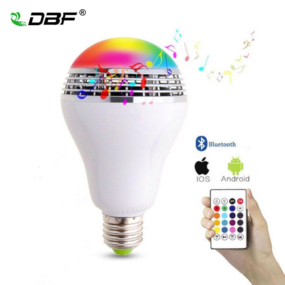 LED Bluetooth Haut-Parleur, [DBF] E27 10 W Bluetooth Ampoule Musique Lumière 24Key Télécommande LED Ampoule Dimmable Changement de Couleur RGB Ampoule
