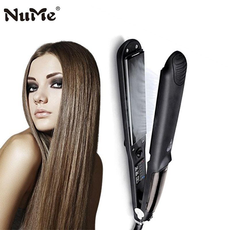 Professional Steam Hair Straightener Ceramic Hair Straightening Iron Electric Hair Curler Curling Iron Salon Styling Tools