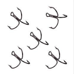 10 Pcs/lot 2 #4 #6 #8 #10 # Hitam Fishing Hook Karbon Tinggi baja Kait Memancing Putaran Bend Treble Treble Terbalik Untuk Bass