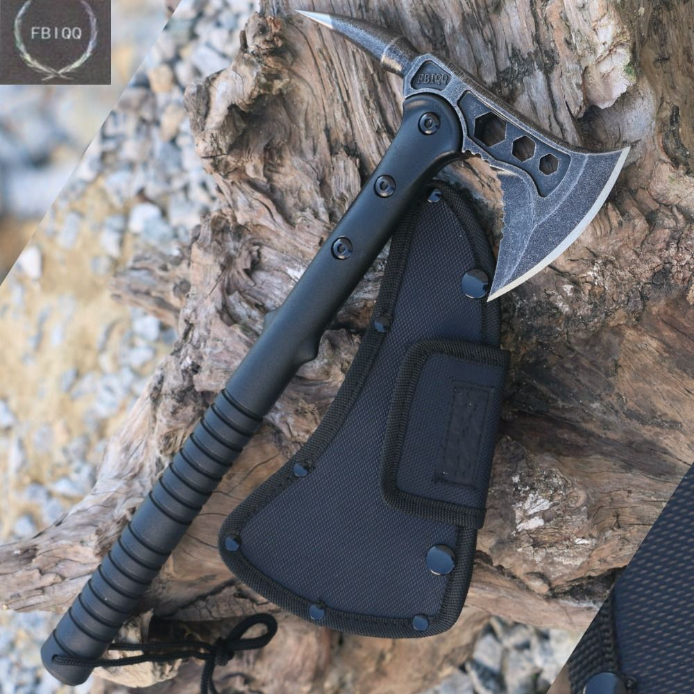 FBIQQ Tactical Axe Tomahawk Army Outdoor Hunting <font><b>Camping</b></font> Survival Machete Axes Hand Tools Fire Axe Hatchet Axe/Ice Axe
