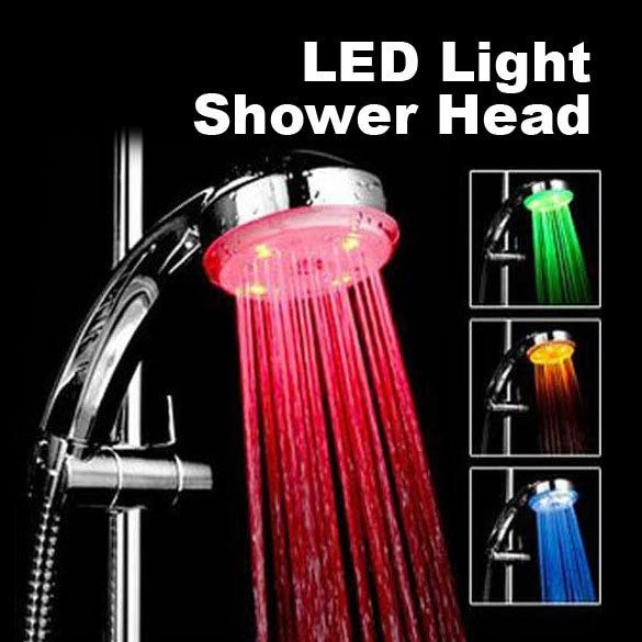 RGB 7 Цвет автоматическое изменение привело Насадки для душа Спринклерная кран SPA воды заставки Здоровье и гигиена душ