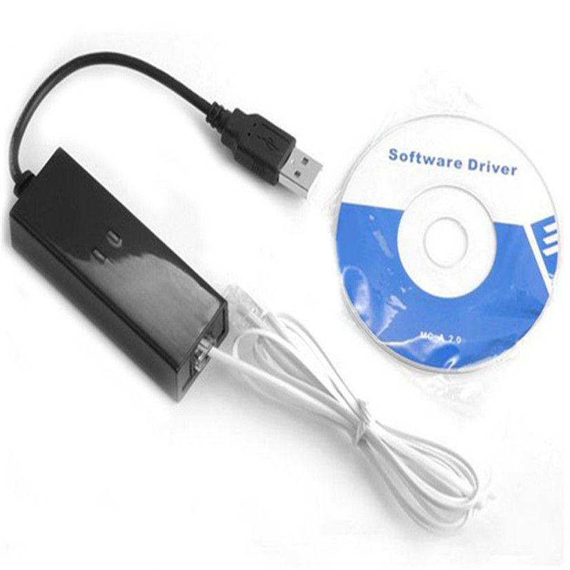 Superior quality New USB 56K V.90 V.92 External Dial Up Voice Fax Data Modem for Win XP VISTA 7 8 Linux Mmar18