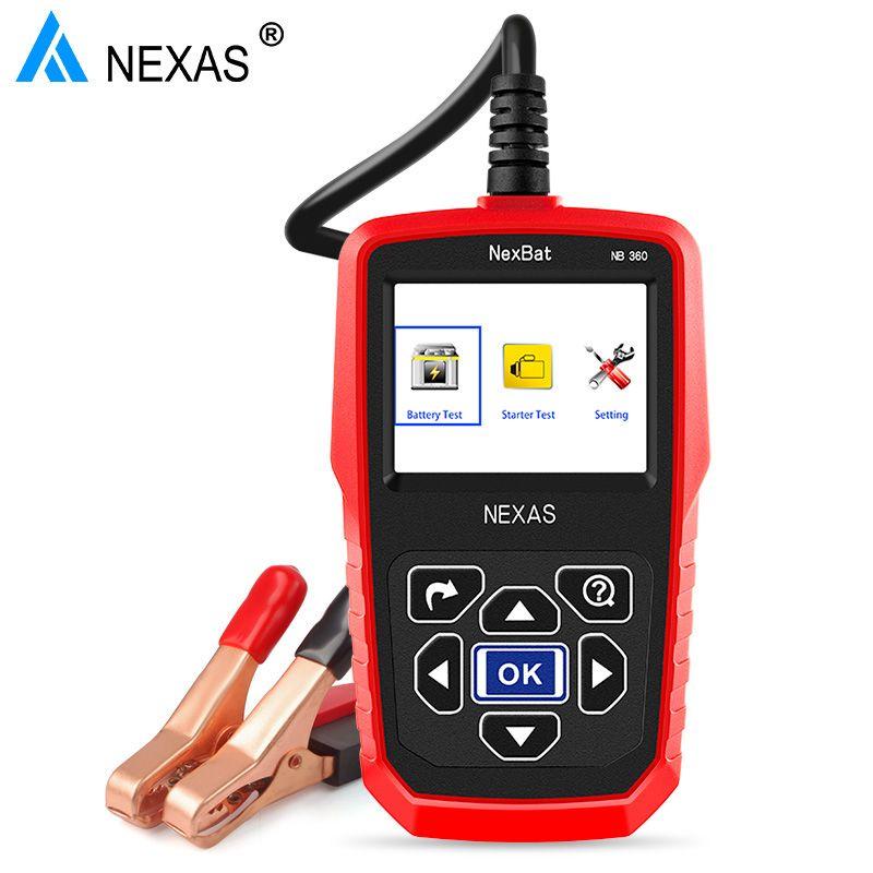 Nexas nb360 12 В 24 В автомобиля Батарея тестер Универсальный Авто Батарея анализатор 2000cca Батарея тестер как для мини-автомобиль и грузовиков