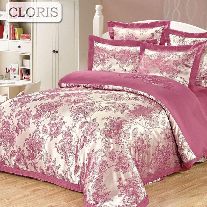 CLORIS Moscow Sent Fashion Brand Satin Bedding Set Russian Supply Designer Cotton Bed Comfortable Sheet Jacquard Full Coverlets
