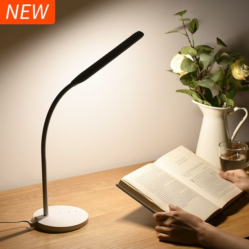 Super Bright LED Desk Lamp 4000K 5-level Dimmer Touch Sensor Office Table Lamp Flexible Reading LED Lights Soft Natural Light
