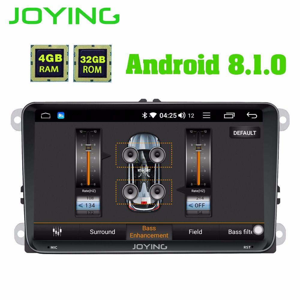 JOYING 4 GB RAM Android 8.1 auto autoradio stereo DSP für Golf Caddy EOS kopf einheit für Passat Polo Tiguan GPS player für Skoda