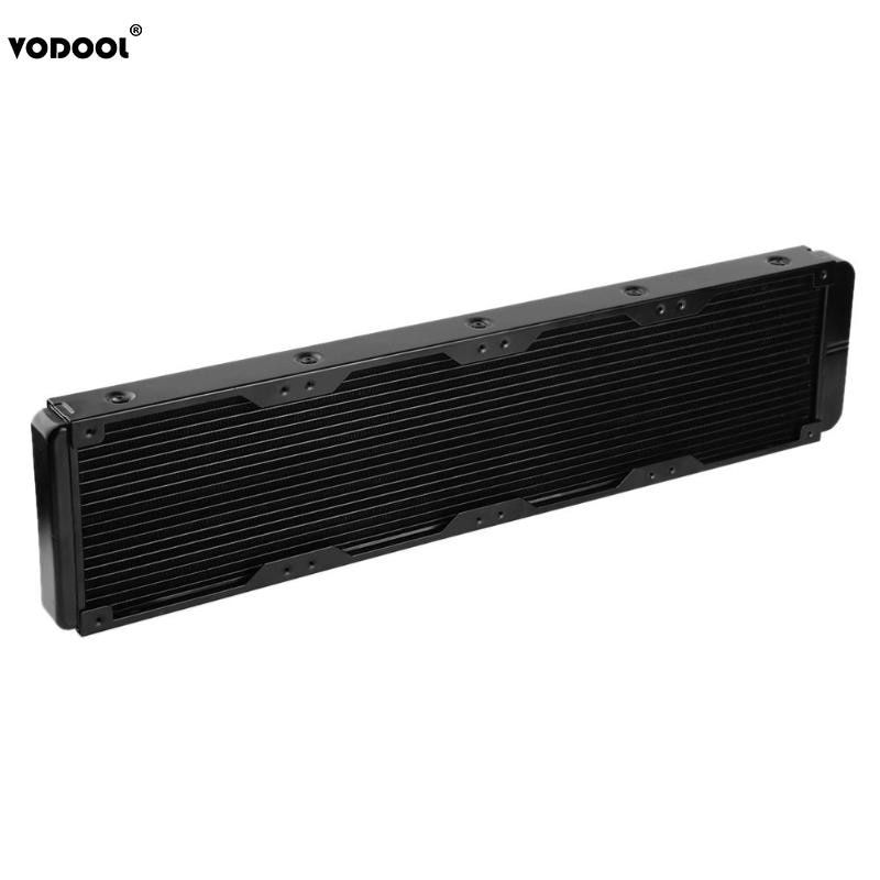 VODOOL 480mm 18 Tubes Computer PC Water Cooling System Water Discharge PC CPU Liquid Water Straight Threaded Heat Sink Radiator