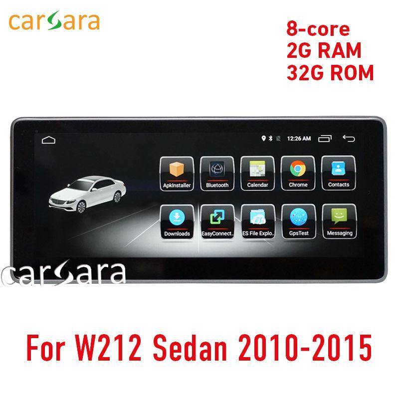 W212 touchscreen Android head unit radio GPS Navigation stereo multimedia 10-15 2G RAM 10,25 E200 E250 e300 E350 E400 E63 AMG