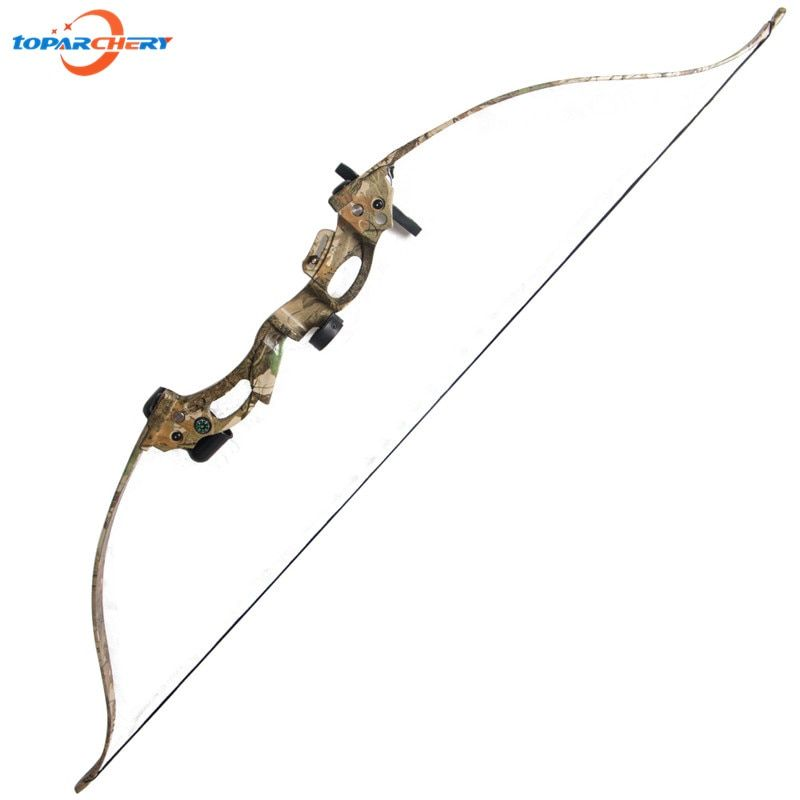 20lbs Traditional Camouflage Archery Compound Bow ABS Plastic Slingshot Take down Bow for Hunting Target Shooting Practice Games