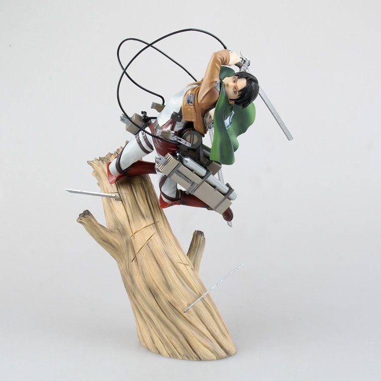 Anime Figur 25 cm Kotobukiya ARTFX J Angriff auf Titan Levi Rivaille 1/8 Skala PVC Action Figure spielzeug Modus Collectibles