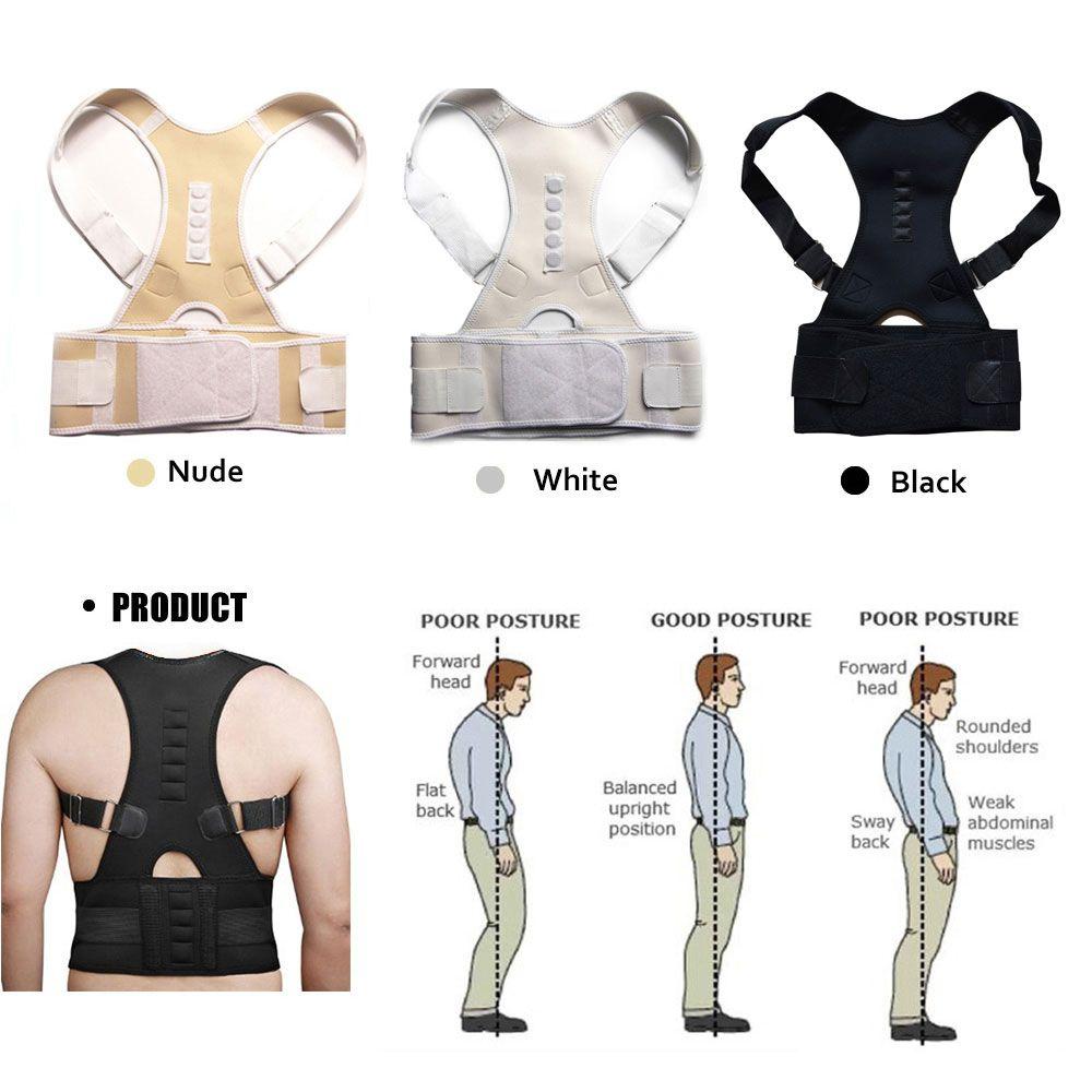 Aptoco Thérapie Magnétique Posture Correcteur Brace Épaule Back Support Ceinture pour Hommes Femmes Accolades et Soutient Ceinture Épaule Posture