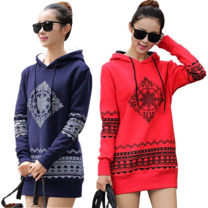 2018 Autumn Winter Women's Sweatshirt Loose Hooded Pullovers Thicken Long Sleeve Plus Size Sweatshirt Women Hoodies S-4XL