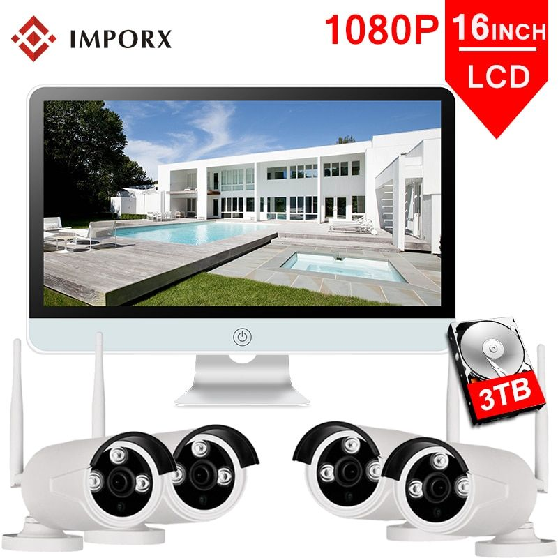 IMPORX 4CH Wireless NVR Kit 1080P 16
