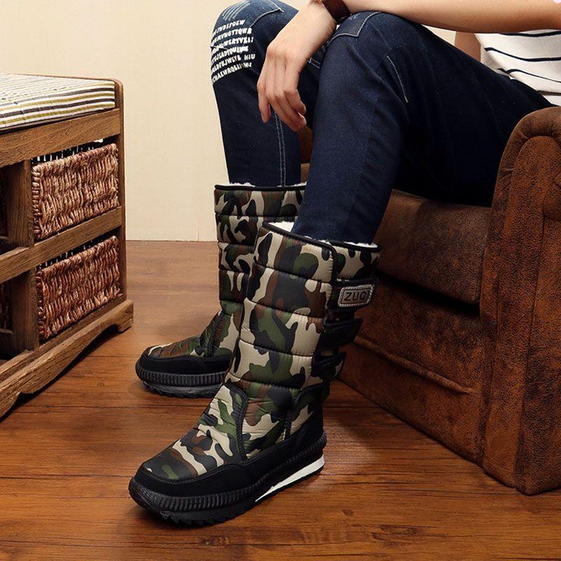 2017 snow boots Shoes men waterproof men's Winter boots Shoes outdoor warm Mans footwear fashion work shoes