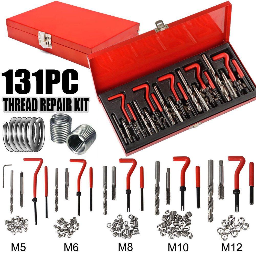 131 pièces bloc moteur restauration fil endommagé réparation Kit d'outils M5 M6 M8 M10 M12 professionnel SK1008