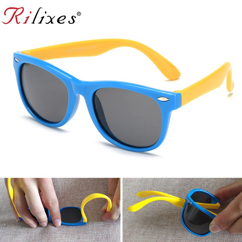 RILIXES Polarized Kids Sunglasses Boys Girls Baby Infant Sun Glasses 100% UV400 Eyewear Child Shades Oculos Infantil