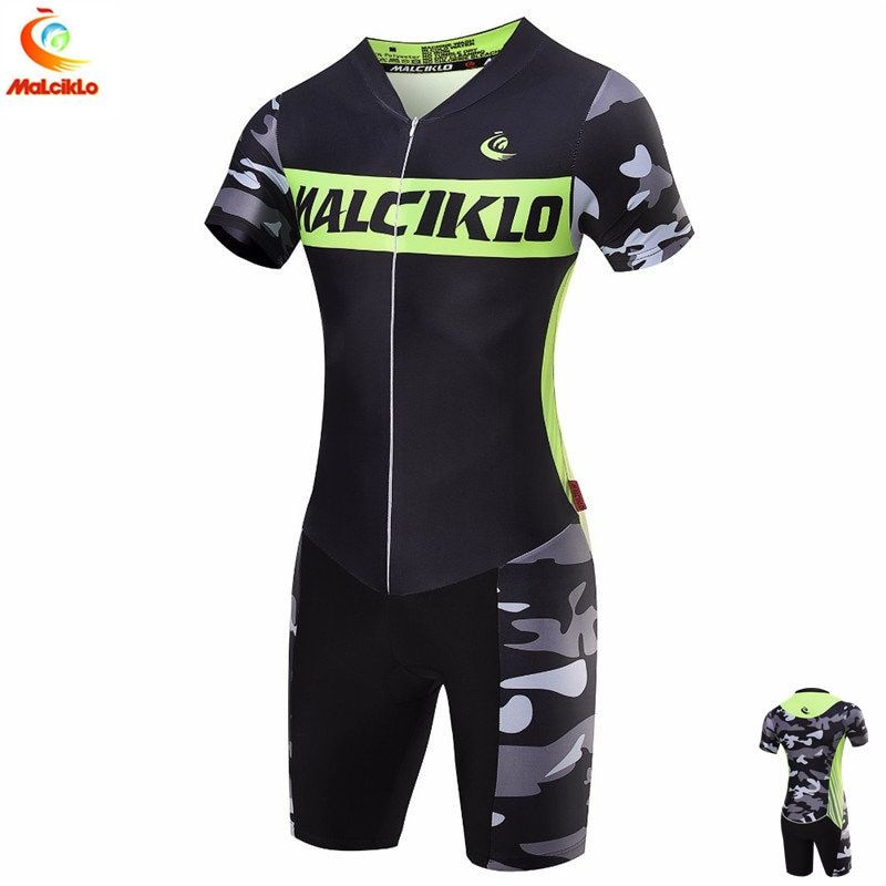 21 Style Malciklo Summer Triathlon Suit One Piece Customized Cycling Skinsuit Ropa Ciclismo For Unisex Running Cycling Swimming