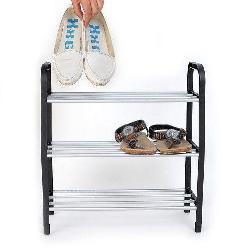 Новые 3 уровня пластиковая обувь Rack Организатор Стенд Полка держатель Блок черный свет