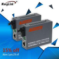 1.25G Gigabit Ethernet Media Converter 1 Port Optik 1 Listrik Port Fiber Converter SC 3Km Optical Transceiver 1 pasangan