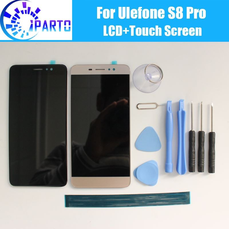 <font><b>Ulefone</b></font> S8 Pro LCD Display+Touch Screen 100% Original LCD Digitizer Glass Panel Replacement For <font><b>Ulefone</b></font> S8 Pro +tool+adhesive