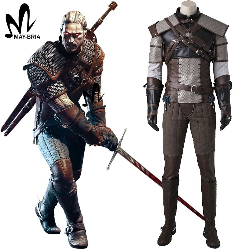 The Witcher 3 Wild Hunt Cosplay Costume Game suit for adult Geralt of Rivia Cosplay Costume Custom Made Carnival Halloween suit