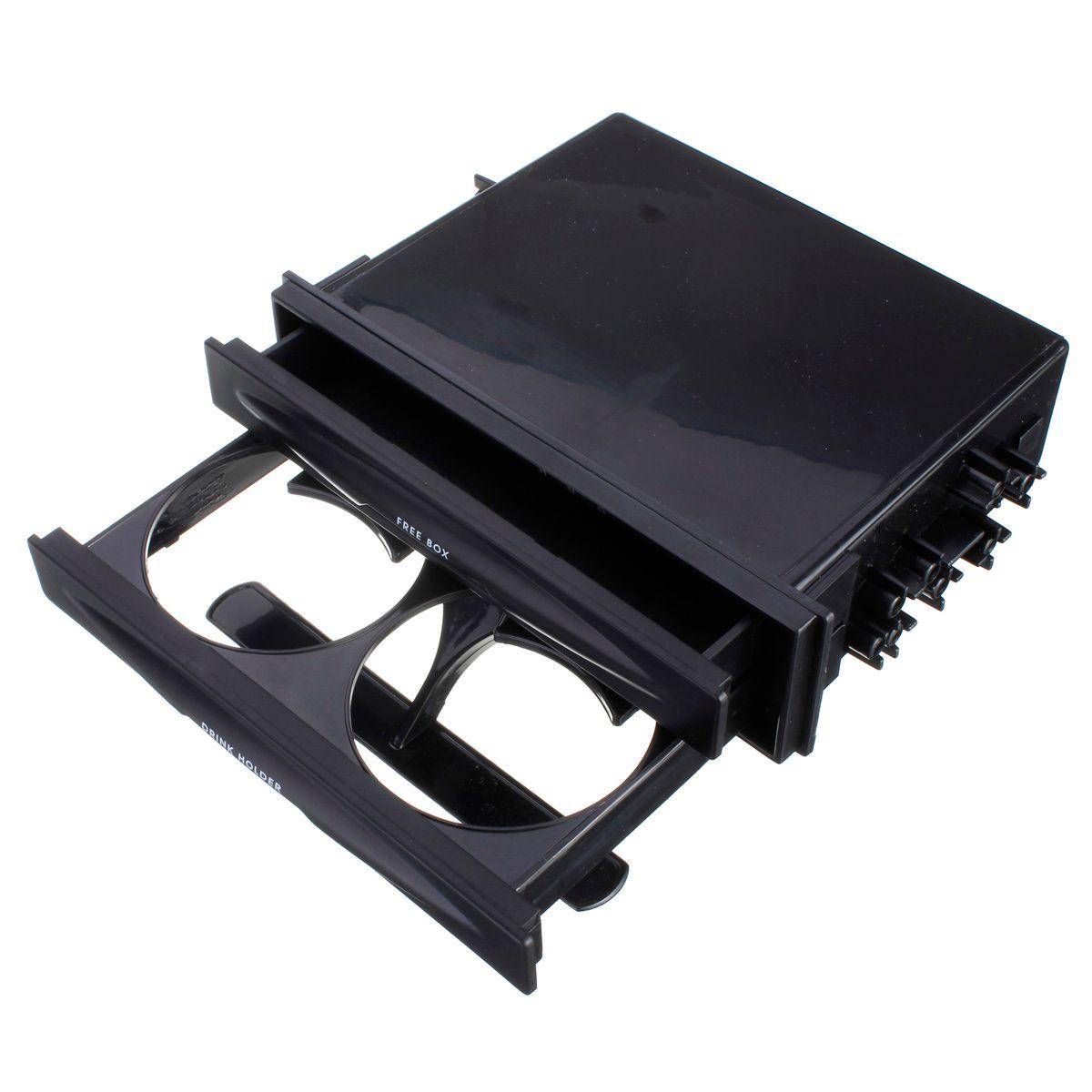 Новые Универсальный Авто Пластик двойной din Радио комплект для карман напиток-подстаканник и ящик для хранения