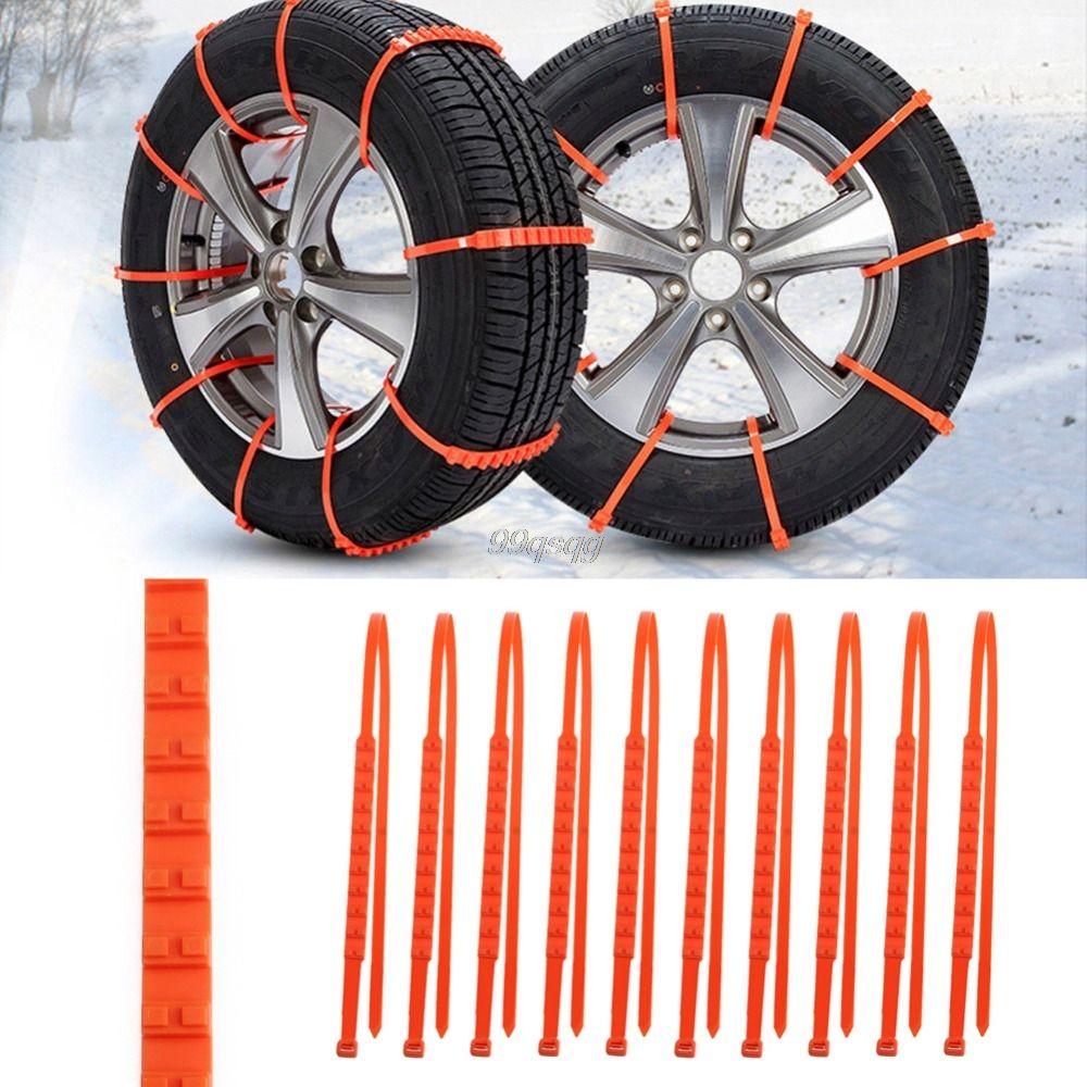 10 Unids/set Coche Universal Mini De Plástico ruedas Neumáticos Cadenas Para La Nieve de Invierno Para Coches/Suv Car-Styling Anti-Skid Autocross Al Aire Libre Nuevo