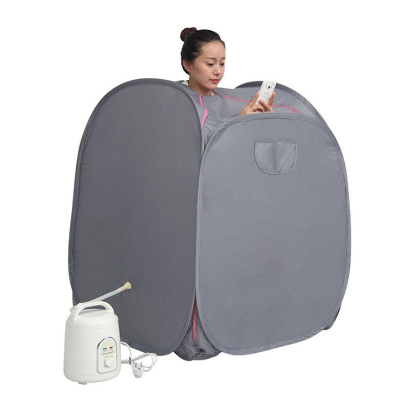 Dampfsauna mit dampfer khan gewichtsverlust Vorteilhaft haut Zu Hause Sauna Zimmer bath SPA mit sauna tasche