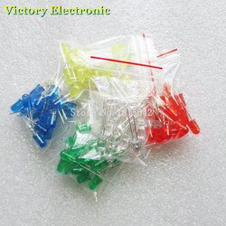 100 pcs 5mm LED diode Lumière Assorties Kit DIY Led Ensemble Blanc Jaune Rouge Vert Bleu électronique diy kit
