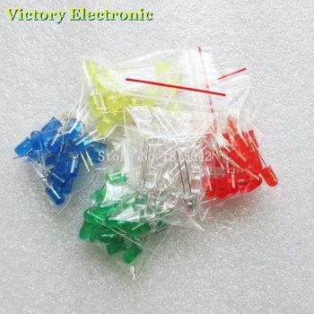 100 pcs 5mm LED diode Lumière Assorties Kit DIY Led Ensemble Blanc Jaune Rouge Vert Bleu électronique diy kit