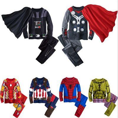 2019 les Avengers Iron Man enfants Pyjamas ensembles Captain America vêtements de nuit garçons Super Cool printemps automne à manches longues Pyjamas ensemble