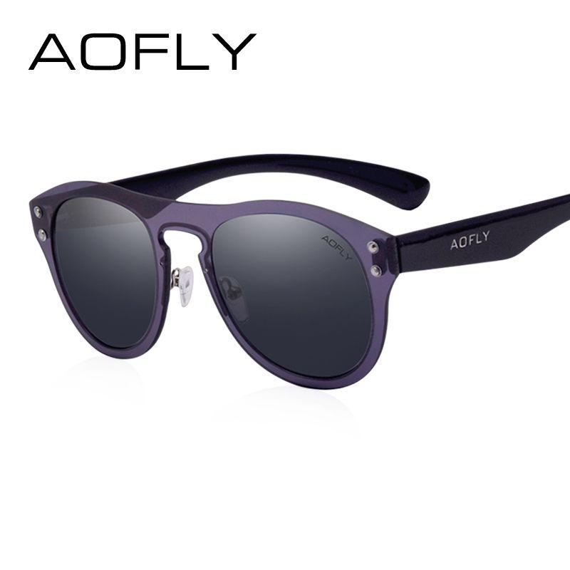 AOFLY Vintage Sunglasses Cool Brand Designer Men Classic Sun Glasses Rivet Reflective Goggles With Original Case Shades AF6025