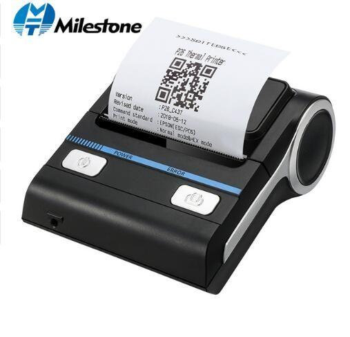 12 Pieces/lot Milestone 80mm Thermal Printer Bluetooth Android POS Receipt Bill Printer Printing Machine MHT-P8001 free DHL EMS