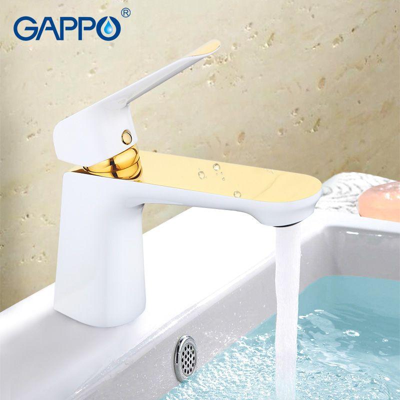 GAPPO d'eau mitigeur Bassin Robinet salle de bains évier robinet mélangeur salle de bains robinet en laiton robinet cascade toilettes bassin mélangeur or G1080