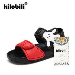 Kilobili 2018 niños del verano ocasional suave sandalias para niño niñas niños planos con sandalias de playa verano gancho sandalias 3-8Years