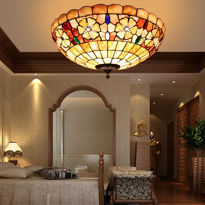 europe modern tiffany ceiling light shell bedroom balcony hallway ceiling lamp 20inch