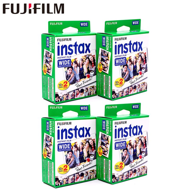 Genuine 80 sheets Fujifilm Instax Wide White edge Film for Fuji Instant Photo paper Camera 300/200/210/100/500AF