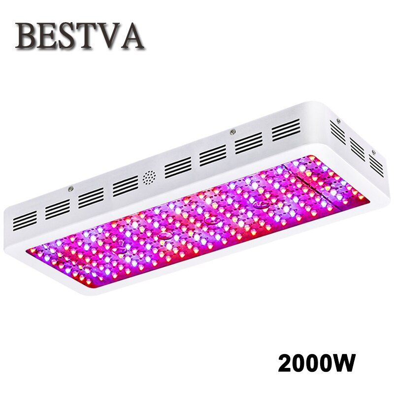 BestVA 2000W LED grow light full spectrum double chips grow lamps for indoor plants grow light hydroponics greenhouse grow tent