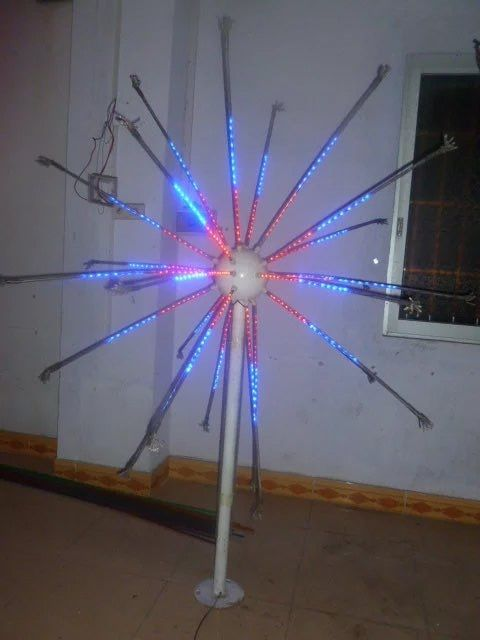 Free ship LED Fireworks Light Christmas new year party Holiday decor Light 25 Branches 6.5ft 4 Colors Changing Outdoors