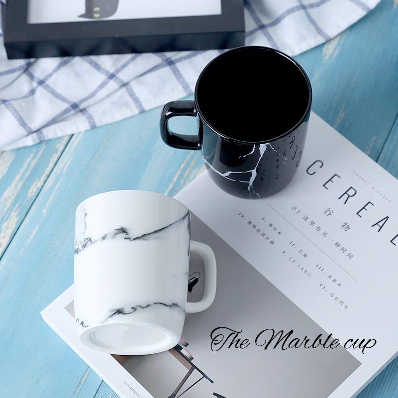 12 oz 350 ml Moderne Marbre Motif Décoratif En Céramique Tasse de Bureau À La Maison En Porcelaine Café Lait Thé Tasse Créative Drinkware