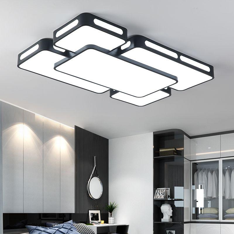 Simple Modern LED Ceiling Lights For Living Room Bedroom Celling Lamps Black/White Indoor Lighting AC90-260V Lampara de techo