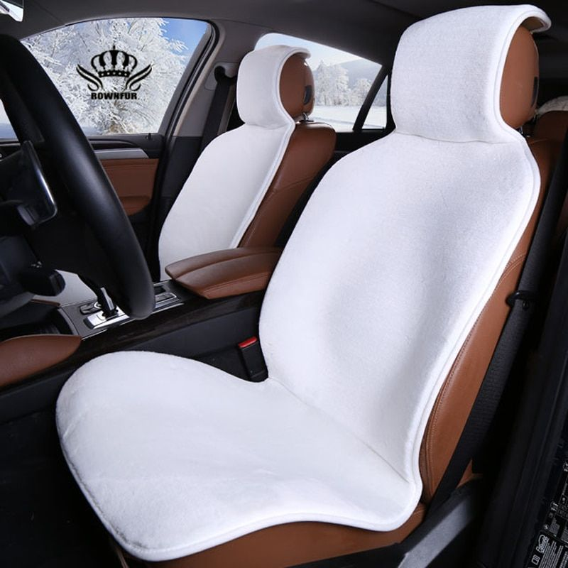 Auto Crown Hot Sale Universal Car Seat Interior Accessories faux fur Material Car Seat Cover Easy to install 5 colors 2016new
