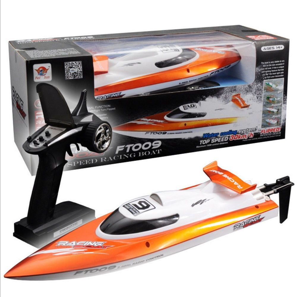 Feilun FT009 2.4GHz 4 Channel Water Cooling High Speed Racing RC Boat Gift FT009 remote control airship Q20 AUG20