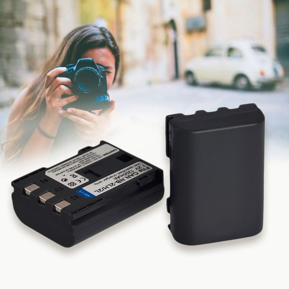 2pcs/lot Rechargeable Camcorders Camera Battery For Canon NB-2L/2LH 1200mah New Camera Replacement Battery Accessories
