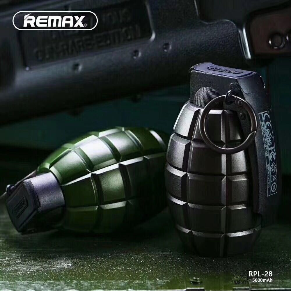 Remax 5000mah Grenade Design power bank USB Charger External Battery Portable Mobile for iPhone Mobile Phones Tablet PC