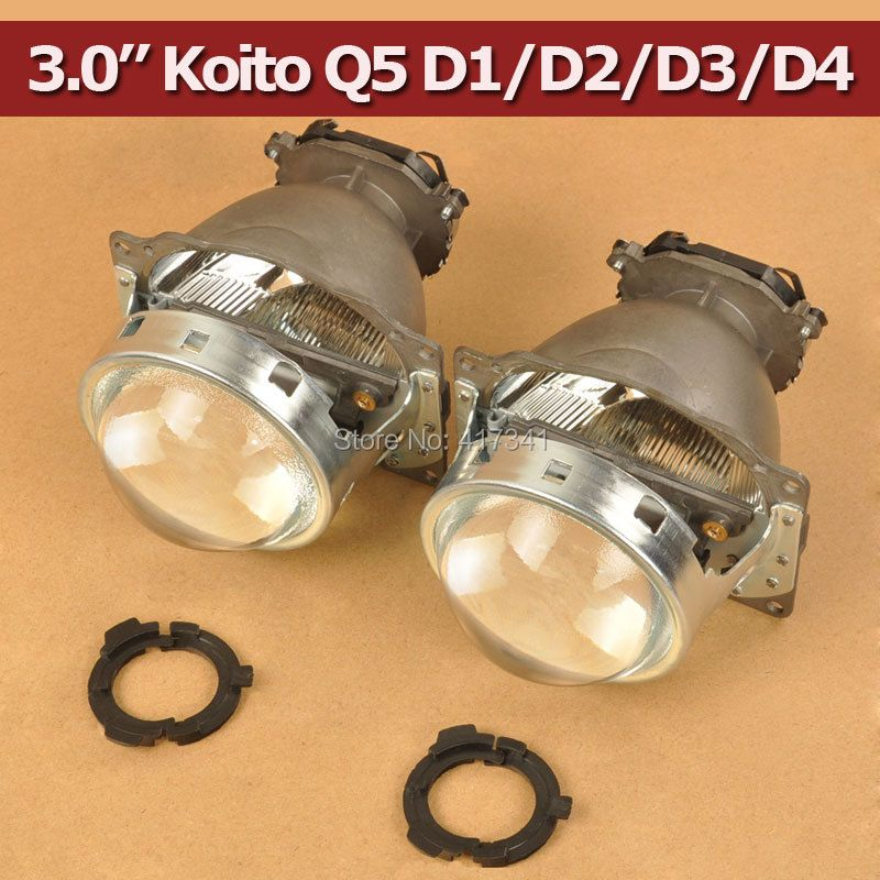 Free Shipping 3.0 Koito Q5 Bi-xenon Projector Lens LHD Headlights D1S D2H D2S D3S D4S Bright HID Car Light Retrofit