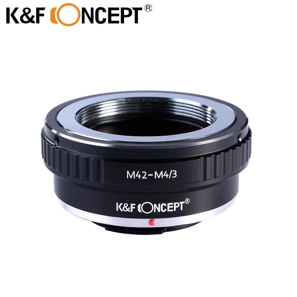 K & F CONCEPT M42-M4/3 adaptateur d'objectif de caméra pour monture à vis M42 objectif allumé pour Micro 4/3 M4/3 caméra de montage Olympus/Panasonic