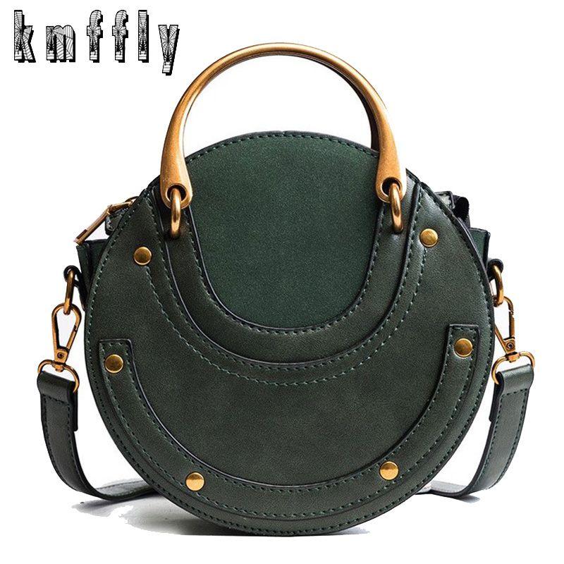 Mode chaude ronde sac à main femmes sac à main Rivet été dame mode épaule Messenger sac de luxe Designer en cuir femmes sac