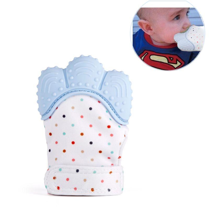 Baby Teethers Natural Silicone Gloves Teether Sensory Handmade Waterproof Fabric Newborn Teething Newborn Mom Kids Teether 1pcs