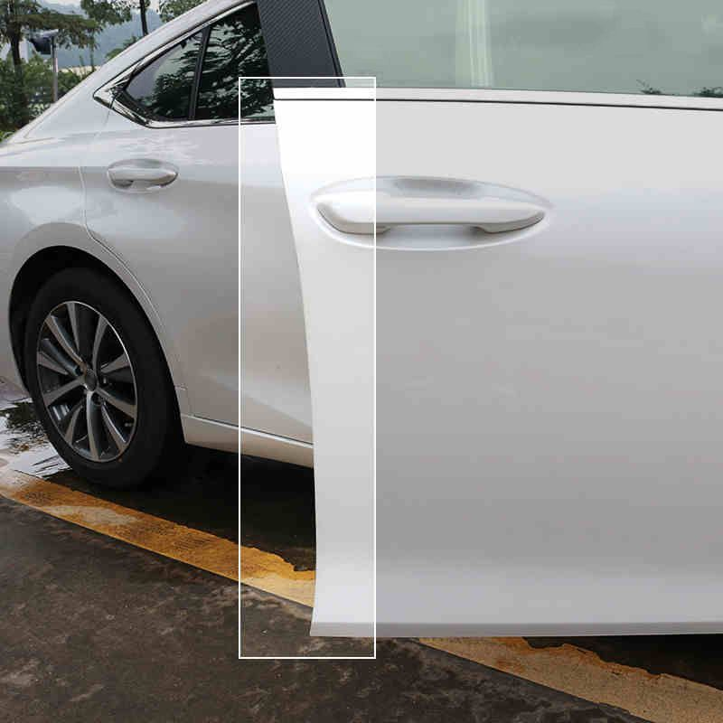 QHCP TPU Auto Tür Anti-kollision Aufkleber Klebeband Unsichtbare Tür Scratch Protector Accessoriy Für Lexus ES200 260 300H 2018